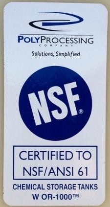 NSI seal for water tank